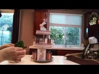 Dollar Tree 3 Tiered Tray DIY - Make Something New Challenge