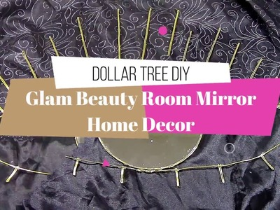 Dollar Tree DIY Glam Beauty Room Mirror - Home Decor