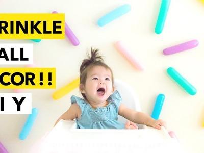 EASY DIY Sprinkle Wall! || Colorful Birthday Backdrop