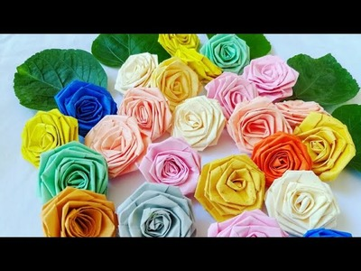Easy paper roses. How to make paper roses. Paper rose by KovaiCraft