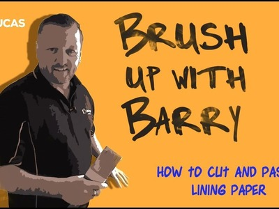 How to Cut and Paste Lining Paper
