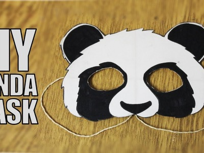 How to make a paper mask - DIY Panda Mask