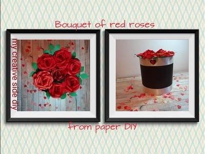Kako napraviti buket ruza od papira u kutiji  DIY  How to make a Bouquet of Roses  from Paper
