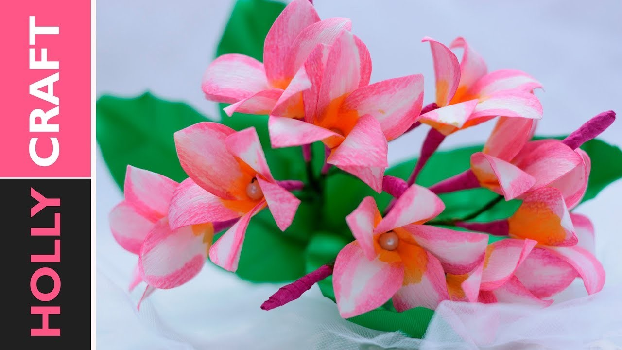 Paper Flower Making Realistic Looking Plumeria Out Of Cheap Paper