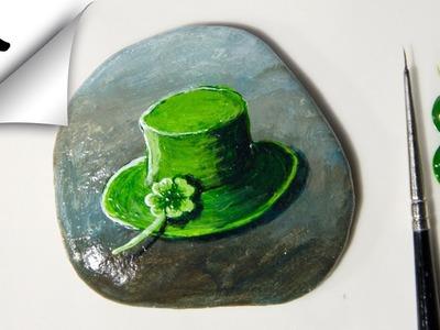 Rock Painting St Patrick DIY