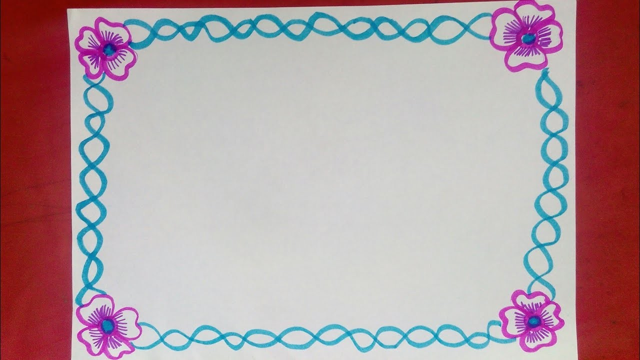 simple border design to draw on paper simple border