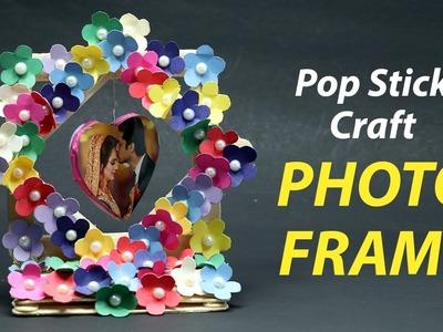Simple & Easy Pop Stick Photo Frame   DIY Photo Frame   DIY Pop Stick Craft