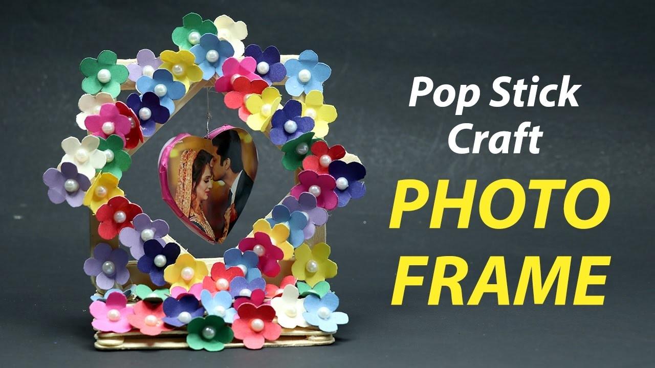 Simple & Easy Pop Stick Photo Frame | DIY Photo Frame | DIY Pop Stick Craft