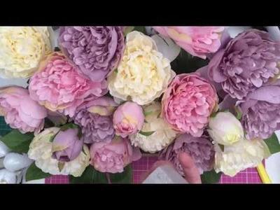 Spring.Easter floral DIY! Using Poundland & Home bargains products!