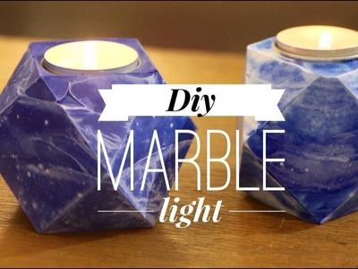 Super easy DIY concrete marble light