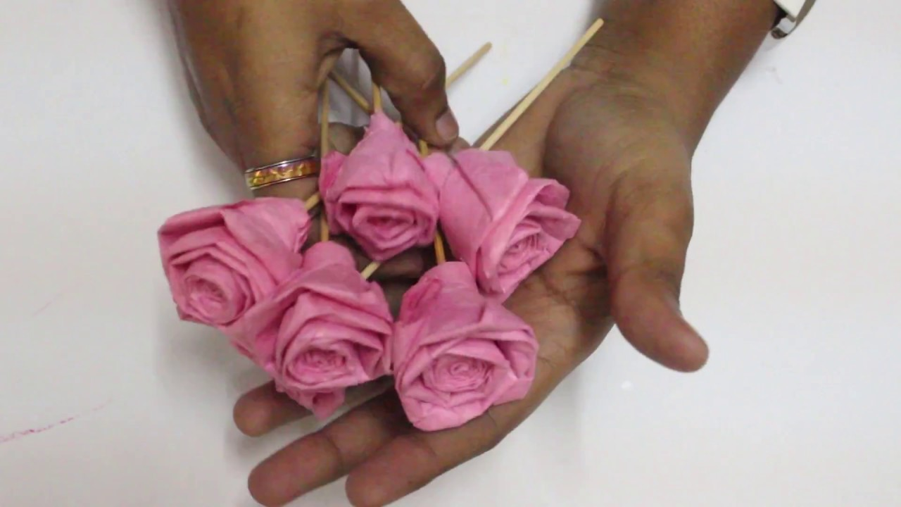 Rose Flower Making With Tissue Paper Flowers Healthy