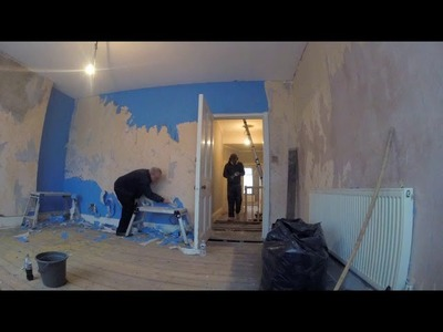 UK DIY House Renovation - Wallpaper Stripping and Electrical Work First Fix