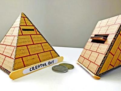 Wow! Amazing DIY Pyramid Coin Bank Box With Secret Door || DIY Piggy Bank