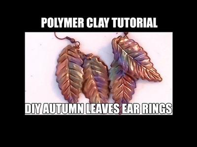 169 Polymer clay tutorial - DIY fall leaves ear rings