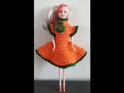 3-D Crochet baby Frock
