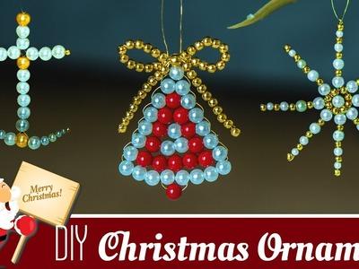 3 DIY Beautiful  Christmas ornaments  | Holiday room decor  | Christmas Decoration ideas| Beads art