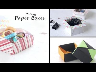 3 Easy DIY Paper Boxes