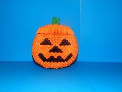 3D Origami  Halloween pumpkin box tutorial 1|| DIY paper Halloween pumpkin box