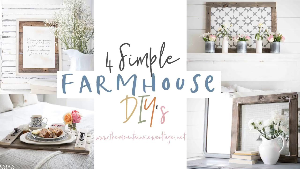 4 Simple Farmhouse DIY's Featuring Pallet Wood