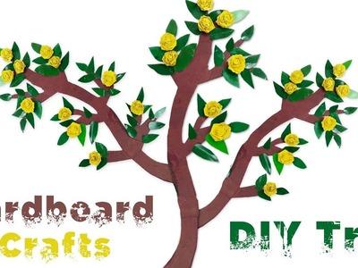 Cardboard Crafts - DIY Tree Branch Room Decor Using CARDBOARD! Wall Decoration Idea-5 Minute Crafts