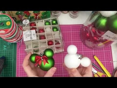 Christmas DIY: Mickey and Minnie baubles!