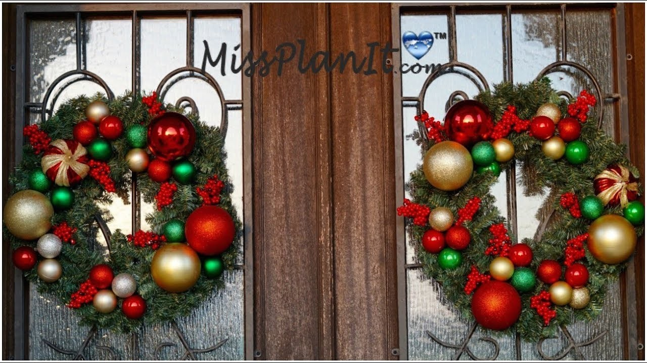Christmas.Holiday Ornament Wreath for Under $20! DIY How to Create this Holiday Ornament Wreath