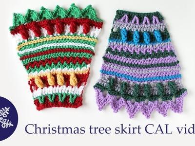 Christmas tree skirt crochet-along video 5