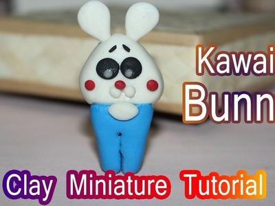 Clay Miniature Bunny | Kawaii Rabbit Bunny | Easy Clay Tutorial | DIY Miniature | FIMO