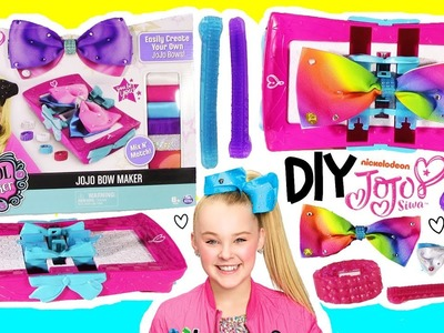 Cool Maker DIY Nickelodeon JoJo Siwa BOW MAKER! Make Your Own Bows with Fabric & Gems! FUN