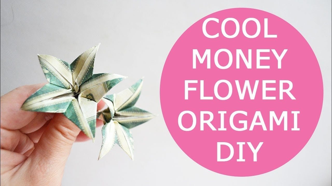Cool Money Flower Origami Dollar Tutorial Diy Folded No Glue