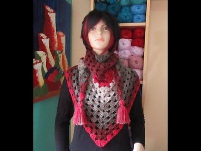 Crochet bufanda bien facil y rapida