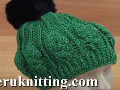 Crochet Cable Stitch Hat Tutorial 181