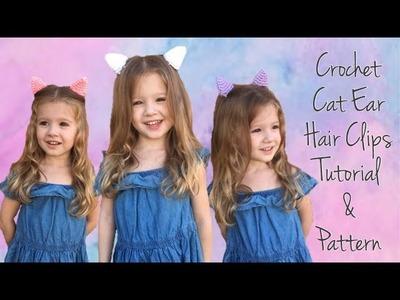 Crochet Cat Ear Hair Clips - Tutorial