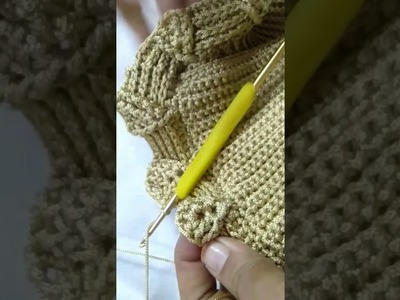 Crochet embossed leaves stitch bag part 3