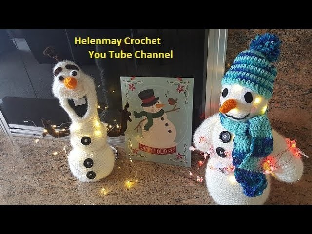 Crochet Heirloom Snowman with lights Part 3 of 3 DIY Video Tutorial