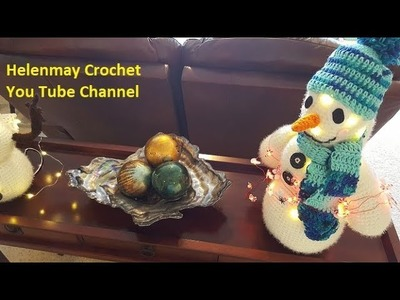 Crochet Heirloom Snowman with lights Part 2 of 3 DIY Video Tutorial
