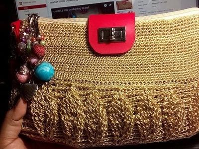 Crochet || how to make 3d leaf #crochet bag