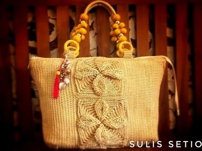 Crochet || how to make square granny #crochetbag part 3