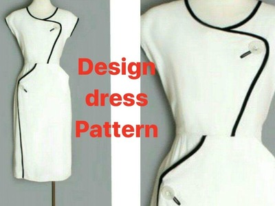 Design dress. How to cutting classic dress.full Tutorial. DIY