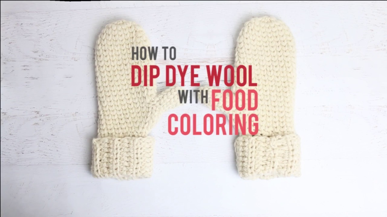 Yarn Dip Dying Crochet And Knitting How To Dye Yarn With Food