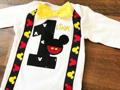 DIY 1st Birthday Outfit Tutorial, Applique Embroidery Brother PE770, Mickey Mouse - The290ss