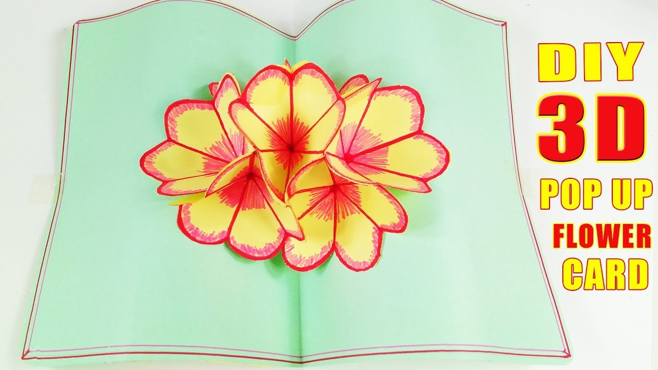 Diy 3d Flower Pop Up Card Tutorial Easy And Simple Steps