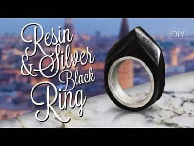 DIY Black Resin - Create from old Ring  - Surprise Ring