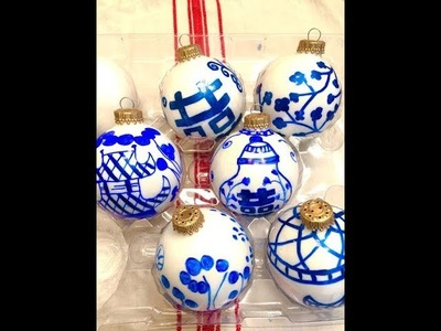 DIY Blue and White Ornament.CHINOISERIE ORNAMENTS