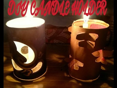 DIY Candle Holder | Inexpensive | Quick Decoration Ideas | Diwali | Christmas
