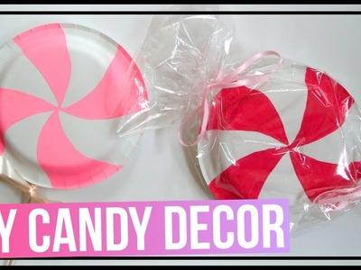 DIY Candy Decor Ideas   DIY Lollipop & DIY Peppermint Candy   DIYs Made Out of Paper Plates