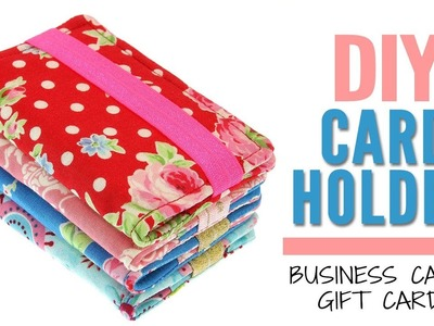 {DIY} Card holder, Business Card Holder, Gift Card Holder