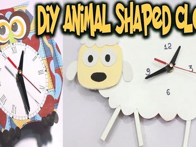 DIY Cardboard Clock Homemade | How to Make Animal Shaped Wall Clocks #easycrafts #cardboardcrafts
