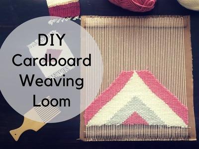 DIY Cardboard Weaving Loom Tutorial