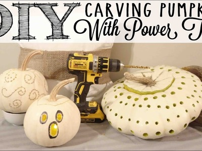 DIY Carving Pumpkins with Power Tools